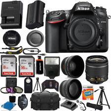 Nikon D7200 Digital SLR Camera Body 3 Lens Kit 18-55mm Lens + 24GB Best Value