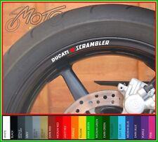 8 x DUCATI SCRAMBLER wheel rim decals stickers - full throttle classic desert O