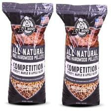 2 Pack BBQ Competition Blend Pellets Pit Boss 40 lb Resealable Bag 100% Natural
