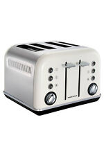 NEW Morphy Richards 242021 Accents 4 Slice Toaster: White