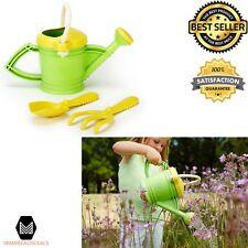 Kids Gardening Toy Set Watering Can Rake and Shovel Green Learning Toys Planting