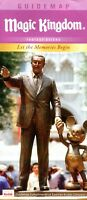 2012 Walt Disney Mickey Mouse Partners Statue - Magic Kingdom Fold Out Guidemap