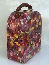 Rare Floral Cardboard Box Suitcase Style Decorative Storage Organizer Scarf Hat