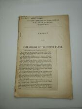 original 1893 Report on the climatology of the cotton plant w/ map cotton states