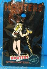 HOOTERS RESTAURANT SEXY GIRL BALL AND CHAIN BACHELOR PARTY WEDDING VEIL PIN