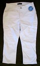 Lee Platinum Label WHITE slimming stretch denim capri jeans 8*FREE SHIPPING*New