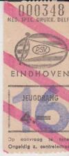 Sammler Used Ticket / Entrada PSV Eindhoven v Sparta Rotterdam 25-01-1975