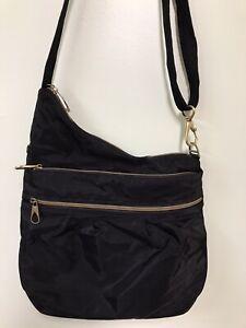 Travelon Anti Theft Travel Bag Black Crossbody Sling Adjustable RFID Blocking