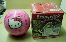= 6#(6#15oz) Brunswick HELLO KITTY FLOWER Pink Polyester VIZ A BALL Bowling Ball