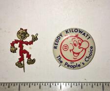2 VINTAGE REDDY KILOWATT PINS