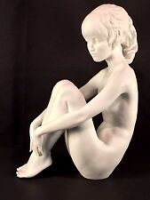 RARE AK Kaiser All White Bisque Nude Figure #568 signed W. Gawantka C1960 PERFCT
