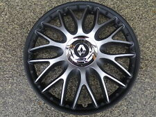 4 Alu-Design Radkappen 16 Zoll Orden black matt für Renault