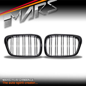 Gloss Black M5 Style Bumper Bar Grille Grill for BMW 5 Series E39 Sedan Wagon