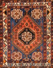 Antique Abadeh Tribal Nomad Wool Oriental Collectable Geometric Rug 4x5
