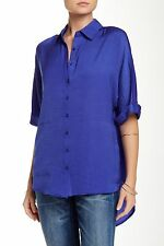 Ro & De Women's Hi-Lo Dolman Blouse Blue XS $64 J5/11