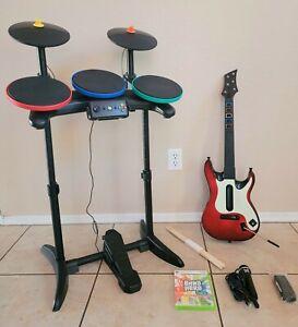 XBox 360 ONE Guitar Hero Warriors of Rock Band DRUM SET World Tour Bundle Game 2