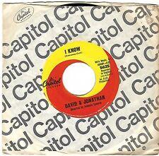DAVID & JONATHAN  (I Know)  Capitol 5625 = VINTAGE record