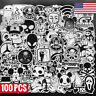 100 Black and White Skateboard Stickers Bomb Vinyl Laptop Luggage Decal Lot Cool