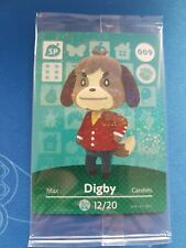 009 Digby NEW IN PACKAGE Animal Crossing Amiibo Card Single Happy Home Designer