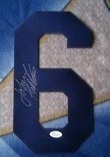 LA Rams JOHNNY HEKKER autographed #6 heat press JSA