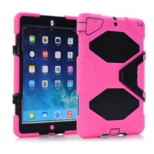 Shockproof Heavy Duty Rubber & Hard Stand Case Cover For Apple iPad Mini Air Pro