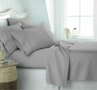 Luxury 100% Egyptian Cotton Extra Deep Fitted Sheets 200TC Flat Sheets All Sizes