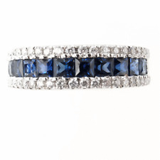 0.25 CT. T.W. Diamond and 1.5 CT. T.W. Sapphire Band Size7.5
