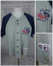 Atlanta Braves Jersey MLB Gray/Blue True Fan Series Branded Size XL RN#77386