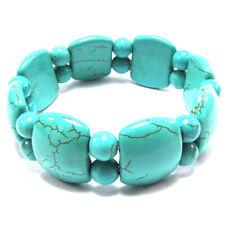 22mm blue turquoise stretch bracelet 8