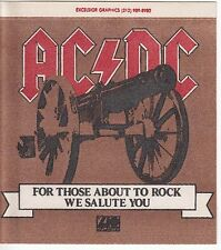 AC/DC For Those About To Rock We Salute You MEGA RARE promo sticker '81