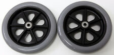 """Wheelchair Parts 7"""" Front Caster Pair 5/16"""" Polyurethane Tire Quickie 2 Pcs New"""