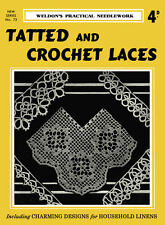 Weldon's 4D #73 c.1933 Vintage Instructions for Tatting & Crochet Lace Patterns