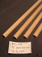 "Red Oak Trim 3/4"" Half Round molding wood cabinet - 36"" long - 4 pieces"