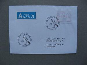 BELGIUM, cover to Germany 2009, vendingmachinestamp, canc bird heron