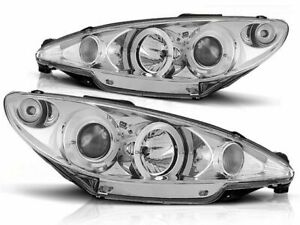 PEUGEOT 206 HB WAGON 1998 1999 2000 2001 2002 LPPE06 HEADLIGHTS HALO PROJECTOR
