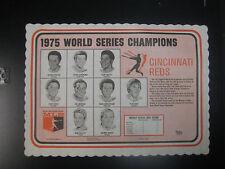 1975 Cincinnati Reds World Series Champions Placemat Box Score Charles Linnett
