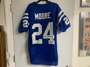 Lenny Moore Colts HOF 1975 Autographed Signed Custom Jersey with Leaf COA