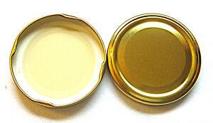 TWIST OFF - Einkochdeckel-Schraubglasdeckel TO 70; Alu gold; NEU (0,25€/Stück)