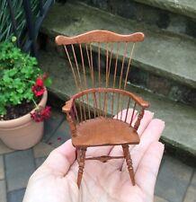 Artisan Natural Wood Windsor Chair Signed Ron Hammond RCH - Dollhouse Miniature
