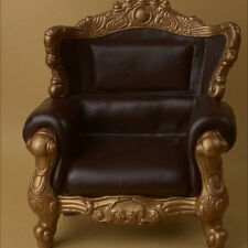 [Dollmore] BJD sofa 1/4 Scale MSD Size Rococo Chair (D.Brown/Gold)