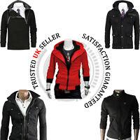 Mens Winte Warm Fleece Zip up Hoddie long Sleeve Jacket SweatShirt Top OverCoat