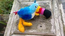"Vtg 1996 KELLOGG CO Soft Stuffed TOUCAN SAM Fruit Froot Loop BIRD Plush/Toy 11"""