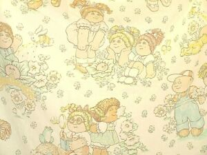 Cabbage Patch Doll Vtg Twin Flat Sheet 1983 Fabric Material Craft Very Nice