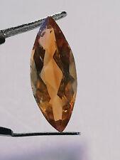 Madeira Citrin: orangebrauner Quarz im Facettenschliff  21x8mm navett- 5,4 carat