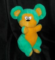 """12"""" VINTAGE PLAY BY PLAY GREEN & YELLOW MOUSE STUFFED ANIMAL PLUSH TOY LOVEY"""