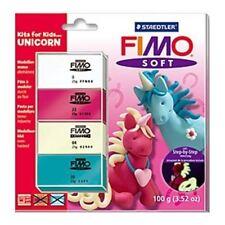 Kits para niños polímero Fimo Modelar Horno Bake Arcilla Set-Unicornio