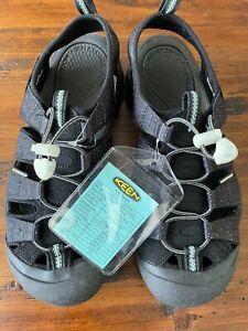 New Keen Newport H2 1023413 Men's Sport Sandals 9 Black White Sample