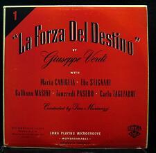 GINO MARINUZZI verdi la forza del destino LP VG 50.001 1st Press Vinyl  Record