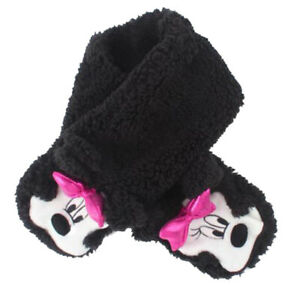 Baby Gap NWT Disney Minnie Mouse Black Plush Scarf $25