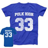 Polk High Al Bundy Jersey  Costume Royal Blue Basic Men's T-Shirt